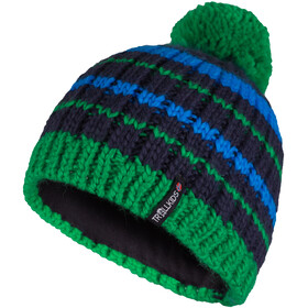 TROLLKIDS Hafjell Berretto Bambino, blu/verde